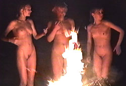 Russian Nudists Celebrate White Nights